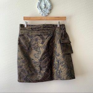 Forever 21 metallic black and gold skirt